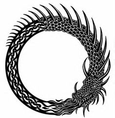 Jormungandr [Iormungandr, Midgardsormr, Midgard Serpent, World Serpent.] Son of Loki and Angur-boda. Lives in the sea, and encircles the earth. He is so long that he has swallowed his own tail. One of Loki's children, he was thrown off of the Sacred Ash, Yggdrasil, by Odin, when he was young. However, he grew to encompass the world, and now the huge serpent twines around the earth, twisting and writhing. He and Thor will battle during Ragnarok. Thor manages to kill the monstrous serpent with…