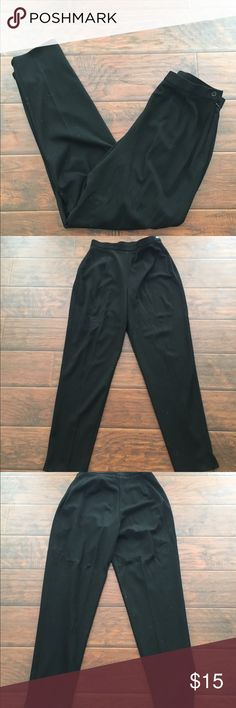 Black Karen Kane trouser pants In like new condition with no rips or stains. Super soft black pants. Flat waistband with a side zipper. Thanks for looking. Karen Kane Pants Trousers