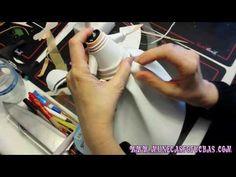 Tutorial de falda y cuerpo de fofucha comunión - YouTube
