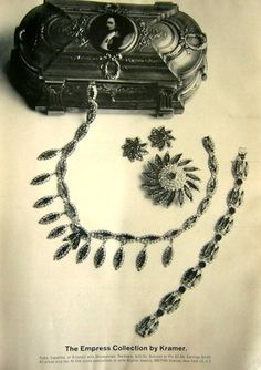 1963 Kramer jewelry ad 'The Empress Collection'
