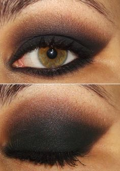 smokey + black to brown