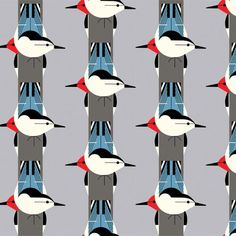 Way cool Charley Harper fabric (see link for more)
