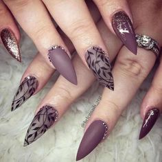 Best Stiletto Nails Designs, Ideas and Tips For You - - Glamorous Stiletto Nail Designs Youll Adore ★ See more: naildesignsjourna. Fancy Nails, Trendy Nails, Pink Nails, Cute Nails, Matte Stiletto Nails, Pointed Nails, Black Nails, Acrylic Nails, Gel Nail Designs
