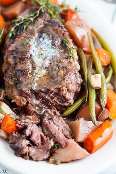 This Slow Cooker Pot Roast is perfect for a romantic dinner for two. #CrockPot