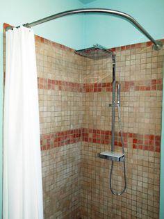 Barre rideau de douche d 39 angle galbobain pour bac de douche carr 100x100 galbobain et les - Rideau giet douche italienne ...