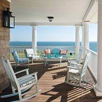 I'm obsessed with porches on beach houses.