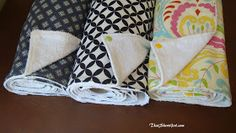 That Short Girl: Reusable Paper Towel Tutorial Paper Towel Crafts, Fabric Crafts, Sewing Crafts, Sewing Projects, Diy Crafts, Paper Towels, Sewing Tips, Paper Embroidery, Learn Embroidery