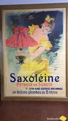 ANTIGUO POSTER FRANCES CARTEL DE PUBLICIDAD DE PETROLEO SAXOLEINE , CIRCA 1900 - Foto 1