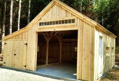 14' x 20' One Bay Garage. Optional 8' x 20' enclosed overhang + double doors. Available as a kit (estimated assembly time - 2 people, 30 hours) or diy plans $39.95. #garage http://jamaicacottageshop.com/shop/one-bay-garage/ http://cdn.jamaicacottageshop.com/wp-content/uploads/pdfs/pdf14x20onebaygarage.pdf