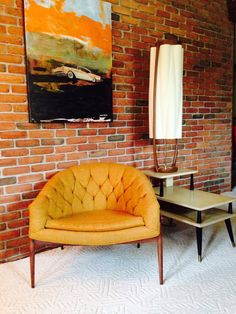 Milo Baughman Wide Tufted Mid Century Modern by NailedTogether