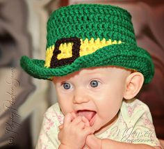 Crochet Leprechaun Top Hat for St by playingreindeergames on Etsy, $15.00
