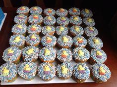 Cupcakes met eend decoratie