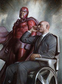 Your mind tricks will not work on me! #Xavier #Magneto Adi Granov