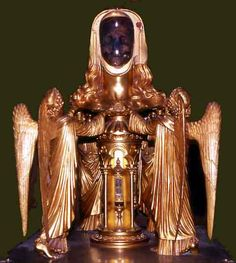 Reliquary head of St. Mary Magdalene in the crypt of the Basilica of St. Maximin.