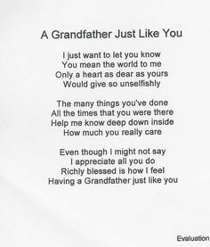 Grandpa Poems From Granddaughter | Make selection on Order Now Page