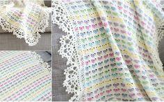 Light Hearts Crochet Blanket