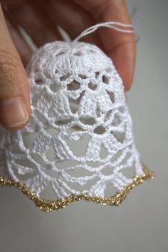 PHOTO ONLY ~ https://www.etsy.com/listing/166297252/crochet-bellsn-2-christmas-bellscrochet?ref=shop_home_active