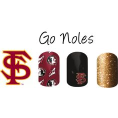 """""""FSU Nail Wraps"""" by firecandy on Polyvore Get Ready for Football season with Jamberry Nail Wraps! Order at jacobagreen.jamberrynails.net"""