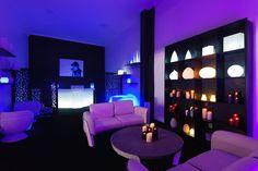 Mobiliario con luz led RGB recargable, para #eventos, fiestas, decoración!!  www.lavidaenled.com