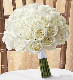 White Rose Bouquet- absolutely GORGEOUS!!