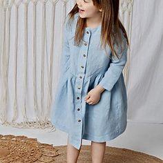 Fashion Brand, Shirt Dress, Retro, Blue, Shirts, Dresses, Kids, Vestidos, Young Children