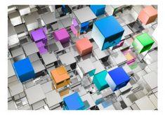 Metaliczna geometria Ingrain Wallpaper, Wallpaper Roller, Paper Tape, Colorful Wallpaper, Visual Effects, Photo Wallpaper, Designer Wallpaper, Home Decor Inspiration, Beautiful Landscapes