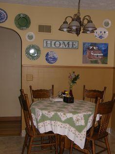 kitchen plate display