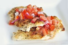 Parmesan-Crusted Bruschetta Chicken with Hellman's NEW Olive Oil ...