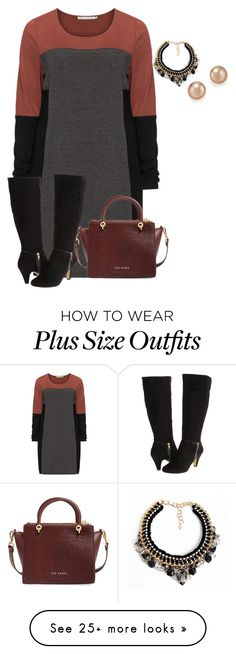 """""""plus size fall/winter office fab look"""" by kristie-payne on Polyvore featuring мода, Studio, Ted Baker, Loli Bijoux, Bloomingdale's и Bella-Vita"""