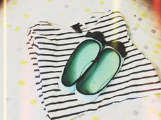 mint suede and stripes by rocketcandy, via Flickr