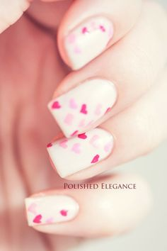 Valentines Day nails from Polished Elegance