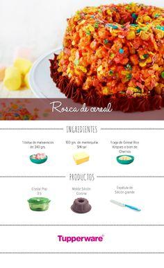 Sorprende a todos con un postre novedoso y lleno de sabor. ¡Una rosca de cereal! ¡Es económico y les encantará! ¡Da click y descubre la receta Tupperware! #Recetas #Postres