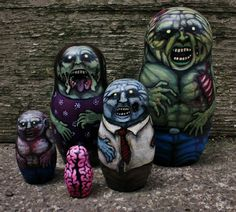 Seriously, who WOULDN'T want a hand-painted zombie matryoshka set?  And for ONLY $200.00 that is a STEAL!  Maybe I WON'T wait until I win the lottery.  Unless one of you good folks gets to it first.