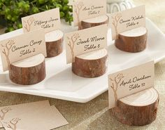 The Rustic Real Wood Place Card Holder Photo Comes In A Set Of 4 And Are Stunningly Simple Adds To Beauty