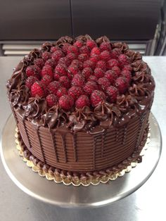 Chocolate and raspberry cake. We make classic cakes and desserts from scratch at our bakery in Orlando , fl