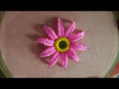Embroidery Tutorial Hand Embroidery beautiful mirror flower designs and picot stitch work - Hand Embroidery Flowers, Embroidery Stitches Tutorial, Flower Embroidery Designs, Hand Embroidery Patterns, Embroidery Techniques, Embroidery Kits, Machine Embroidery Designs, Flower Designs, Embroidery Store