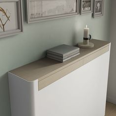 Modern Floating White Radiator Hater Cover NORDIC one or two wood drawers - Distinct Designs (London) Ltd Radiator Heater Covers, Radiator Shelf, Old Radiators, Column Radiators, Modern Radiator Cover, Armoire, Wooden Drawers, Clever Design, Nordic Design