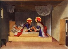 Fra Angelico, The Healing of Justinian's Leg, 1438, tempera and gold leaf on panel