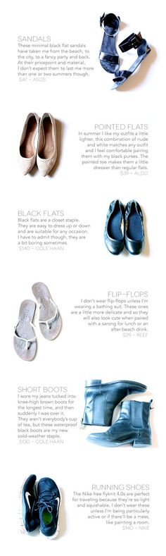 All of the shoes in Coco's minimal capsule wardrobe | Light by Coco #livelight