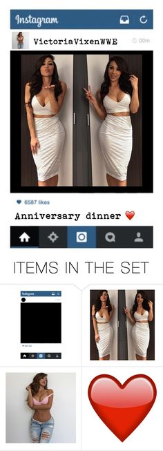 """""""Anniversary Dinner- Victoria 💋 (comment!)"""" by wwegirl2424 ❤ liked on Polyvore featuring art"""