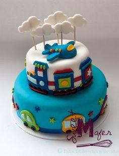torta-transporte Baby Boy Cakes, Cakes For Boys, Airplane Cupcakes, Rodjendanske Torte, Beautiful Birthday Cakes, Happy 1st Birthdays, Cakes And More, Cake Designs, Birthday Celebration