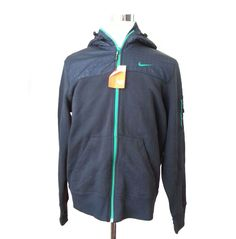 #ebay Men Full Zip Hoodie Size L NIKE Storm Navy Blue With Poly Overlays Shoulders ven withing our EBAY store at  http://stores.ebay.com/esquirestore