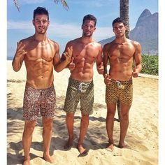 Brazilian  Lucas Bernardini, Arthur Sales and Pedro Aboud  #webstagram