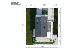 DOM.PL™ - Projekt domu CPT HomeKoncept-66 A CE - DOM CP4-93 - gotowy koszt budowy Cabin Design, Modern House Design, 100 M2, Passive House, Japanese House, House 2, Locker Storage, Architecture Design, House Plans
