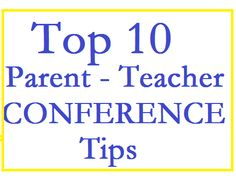 Busy Kids = Happy Mom: Top 10 Conference Tips for Parents. Good suggestions and some I already thought about!