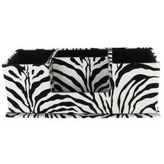 Zebra Desk Organizer | Shop Hobby Lobby..this would be perfect for desk in my room. its adorbss (: