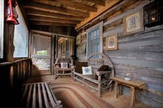 Sleeping Porch in the Pioneer Trading Post, an Appalachian Vacation Cabin Rental Log Cabin in the Smokies Near Gatlinburg on Douglas Lake