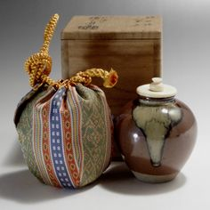 CHAIRE Japanese Pottery Tea Caddy - Kobori Ensyu likes - ZEZE ware #2112 - ChanoYu online shop