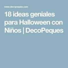 18 ideas geniales para Halloween con Niños | DecoPeques