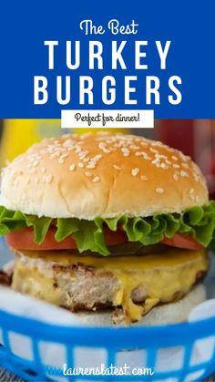 Gluten Free Recipes For Dinner, Vegan Recipes Easy, Whole Food Recipes, Dinner Recipes, Yummy Recipes, Dinner Ideas, Best Turkey Burgers, Turkey Burger Recipes, Hamburger Recipes